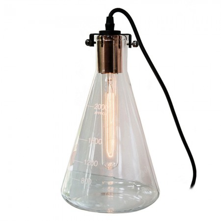 Conical Flask Dimmable Table Lamp - Red Candy