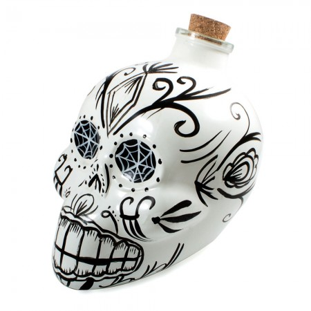 Day of the Dead Skull Decanter (White) - Red Candy