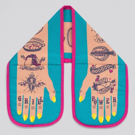 Grill Power Double Oven Glove (Light Skin) - Red Candy