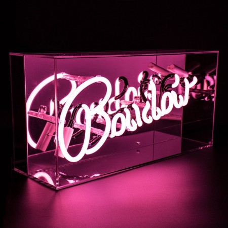 Neon Boudoir Mirrored Box Light (Pink) - Red Candy