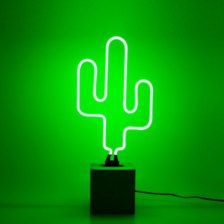 Neon Cactus Table Lamp Sign (Green) - Red Candy