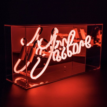 Neon J'Adore Mirrored Box Light (Red) - Red Candy