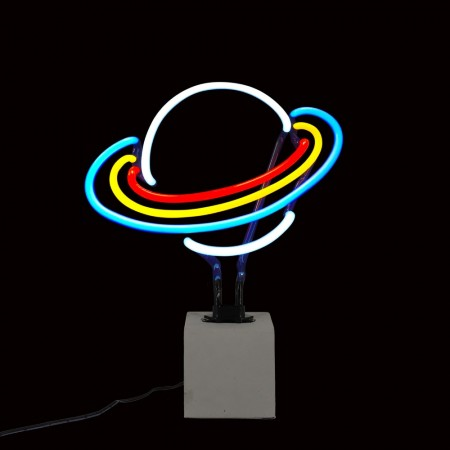 Neon Saturn Table Lamp Sign - Red Candy