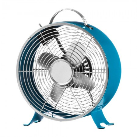 Retro Desk Fan (Raspberry Blue) - Red Candy