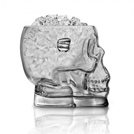 Skull Ice Bucket - Red Candy