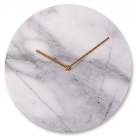 Grey Marble Wall Clock - Red Candy