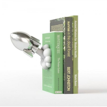 Rocket Bookend - Red Candy