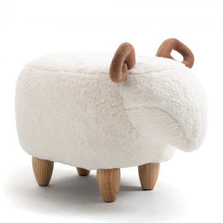 Sandy the Sheep Footstool - Red Candy