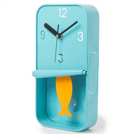 Sardine Tin Wall Clock (Blue) - Red Candy