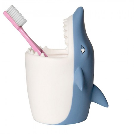 Silva the Shark Toothbrush Holder - Red Candy