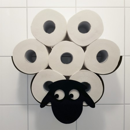 Shearan the Sheep Toilet Roll Holder - Red Candy