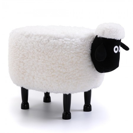 Sian the Sheep Footstool - Red Candy