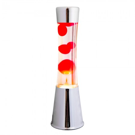 Silver & Red Lava Lamp - Red Candy