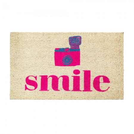 Say Cheese & Smile Doormat - Red Candy