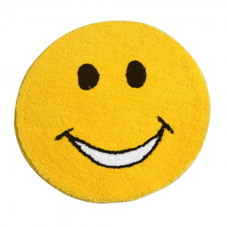 Smiley Face Bath Mat - Red Candy