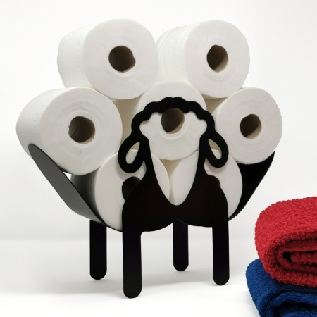 Smokey the Sheep Toilet Roll Stand - Red Candy