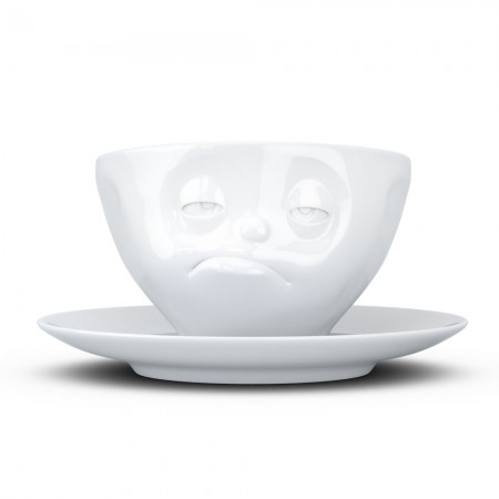 Snoozy Cup & Saucer - Red Candy