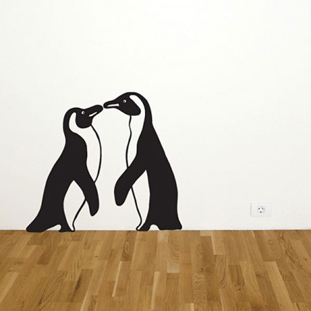 Penguin Wall Sticker - Red Candy