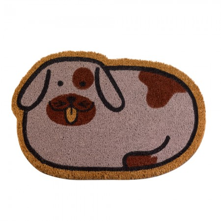 Spotty Dog Doormat - Red Candy