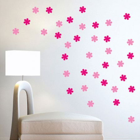 Flower Wall Stickers  - Red Candy