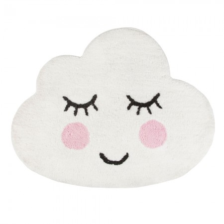Sweet Dreams Smiling Cloud Rug - Red Candy