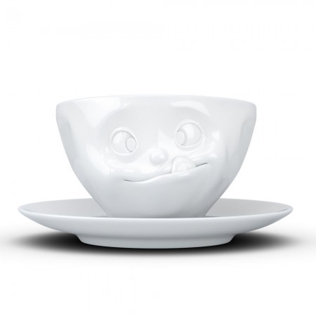 Tasty Cup & Saucer - Red Candy