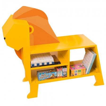 Leon the Lion Storage Bookcase - Red Candy