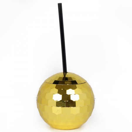 Disco Ball Cup (Gold) - Red Candy