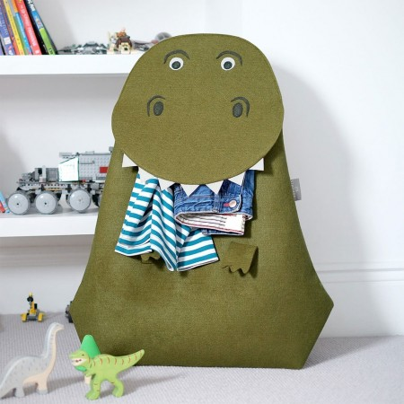 Terry the T-Rex Laundry Basket - Red Candy