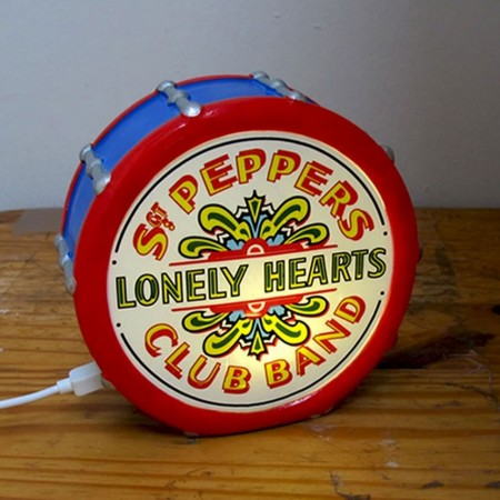 The Beatles Sgt Pepper Mini LED Lamp - Red Candy