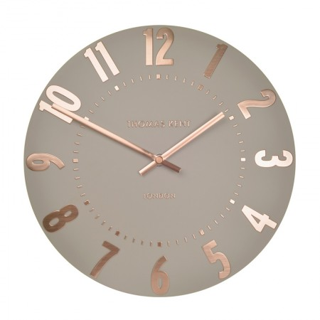 Thomas Kent Mulberry Clock (12 Inch Rose Gold) - Red Candy
