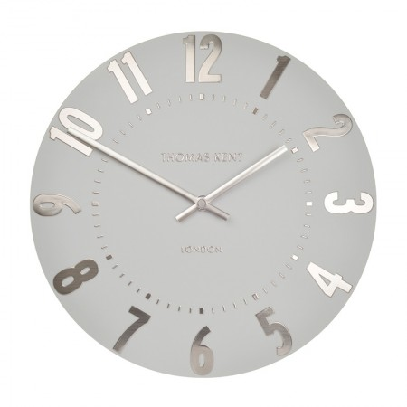 Thomas Kent Mulberry Clock (12 Inch Silver Cloud) - Red Candy