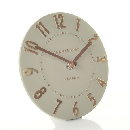 Thomas Kent Mulberry Mantel Clock (Rose Gold) - Red Candy