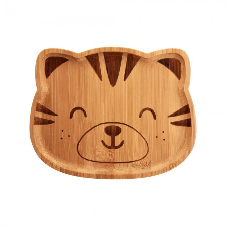 Tiger Bamboo Plate - Red Candy