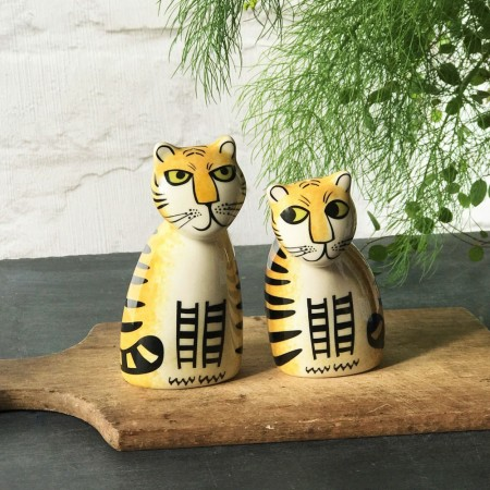 Tiger Salt & Pepper Shakers - Red Candy
