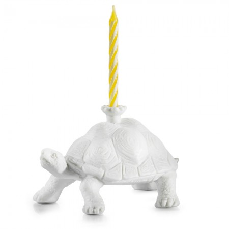 Tortoise Birthday Candle Holder - Red Candy