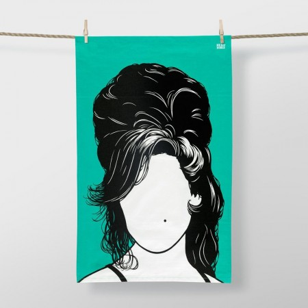 Amy Winehouse Tea Towel - Red Candy