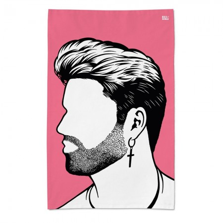 George Michael Tea Towel - Red Candy