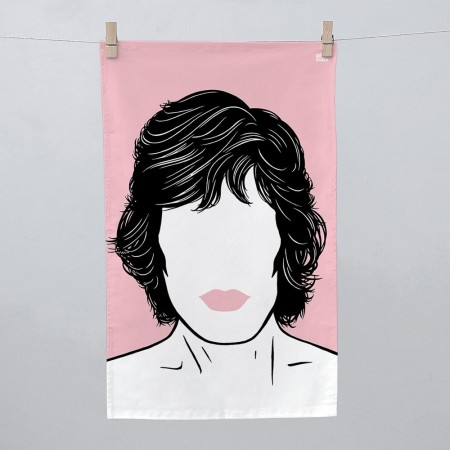 Mick Jagger Tea Towel - Red Candy