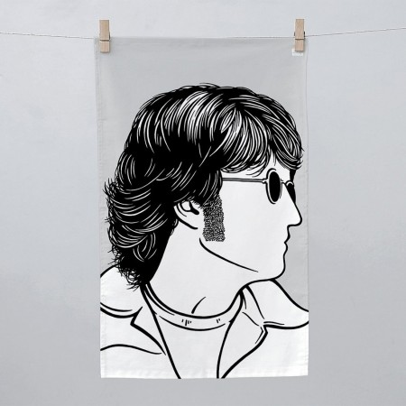 John Lennon Tea Towel - Red Candy