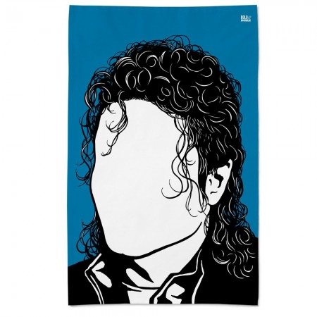 Michael Jackson Tea Towel - Red Candy