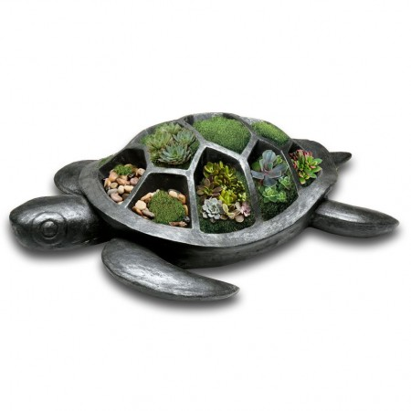 Tia the Turtle Planter - Red Candy