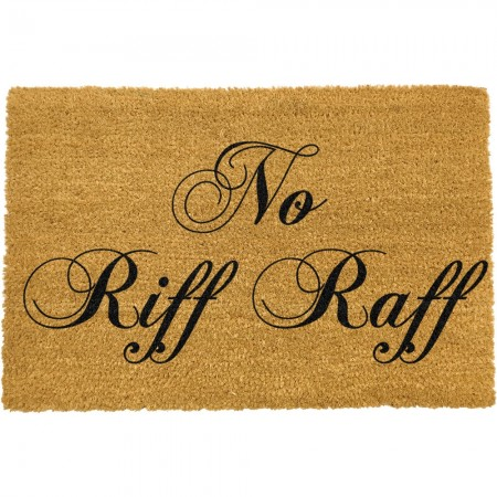 No Riff Raff Doormat - Red Candy