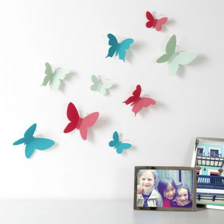 Umbra Mariposa Multicolour Wall Decor (Set of 9) - Red Candy