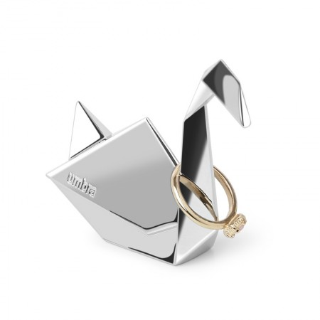 Umbra Origami Ring Holder (Swan) - Red Candy