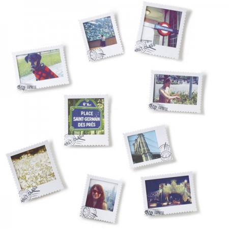 7 to 10 Aperture Multi Photo Frames - Red Candy