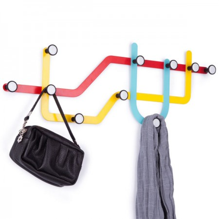 Umbra Subway Multi Hook - Red Candy