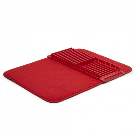 Umbra Udry Drying Mat and Rack (Red) - Red Candy
