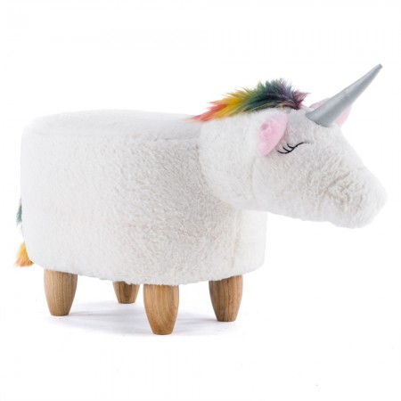 Usain the Unicorn Footstool - Red Candy