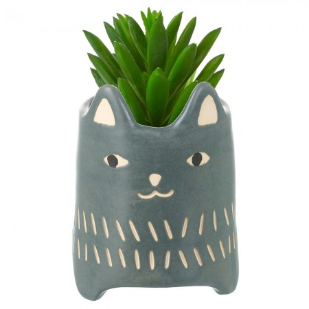 Valerie the Cat Pot - Red Candy